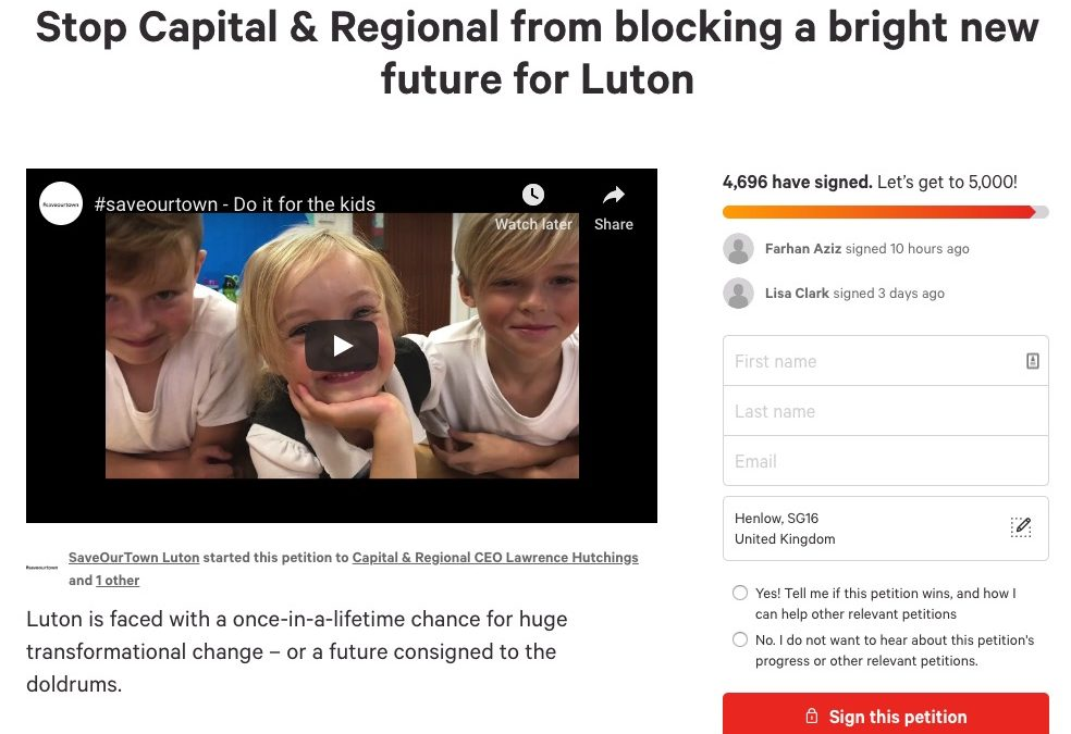 Is It Time Capital & Regional Stopped Blocking A Bright New Future?